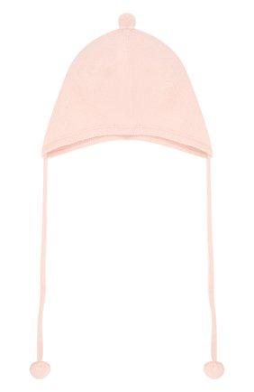 Детского кашемировая шапка OSCAR ET VALENTINE розового цвета, арт. BON01 | Фото 1