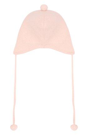Детского кашемировая шапка OSCAR ET VALENTINE розового цвета, арт. BON01 | Фото 2
