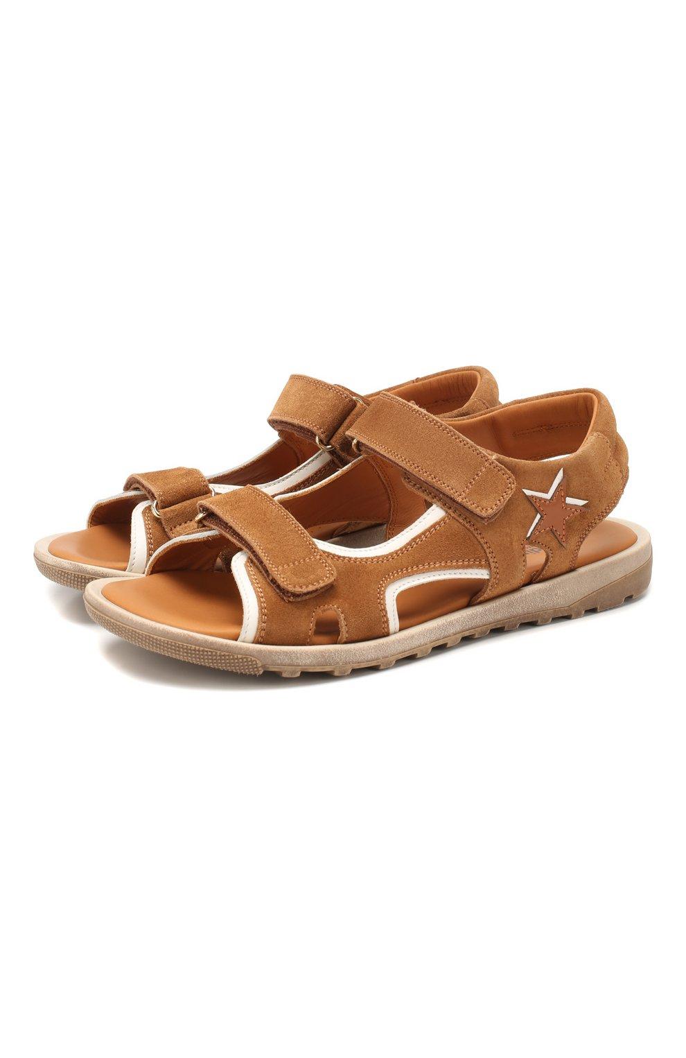 Замшевые сандалии   Фото №1