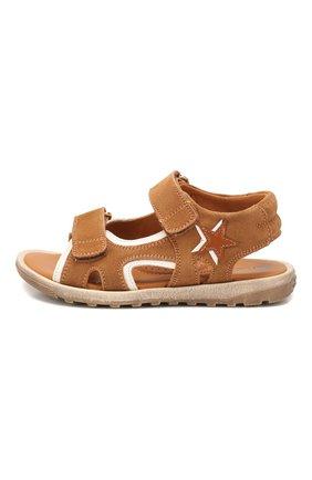 Детские замшевые сандалии RONDINELLA коричневого цвета, арт. 0767-4B/5552/28-30 | Фото 2