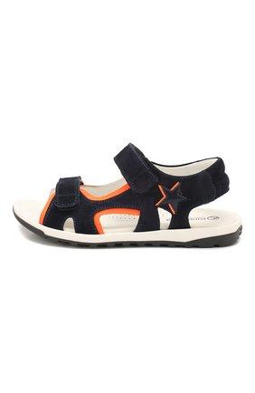 Замшевые сандалии | Фото №2