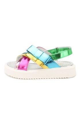 Детские кожаные сандалии MONTELPARE TRADITION разноцветного цвета, арт. MT10155/28-35 | Фото 2