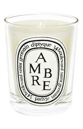 Мужская свеча ambre DIPTYQUE бесцветного цвета, арт. 3700431404282 | Фото 1