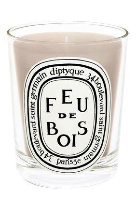 Мужская свеча feu de bois DIPTYQUE бесцветного цвета, арт. 3700431403834 | Фото 1