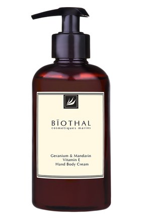 Женского крем для рук и тела geranium & mandarin BIOTHAL бесцветного цвета, арт. 7930077270132 | Фото 1