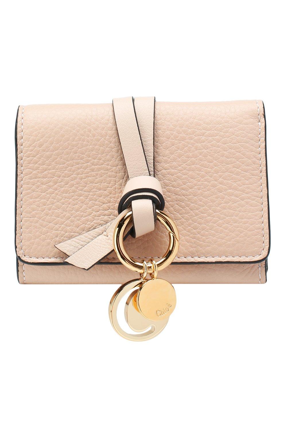 Женские кожаный кошелек CHLOÉ розового цвета, арт. CHC17AP946H9Q | Фото 1