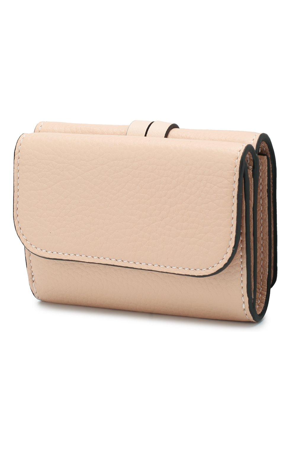 Женские кожаный кошелек CHLOÉ розового цвета, арт. CHC17AP946H9Q | Фото 2