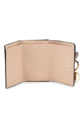 Женские кожаный кошелек CHLOÉ розового цвета, арт. CHC17AP946H9Q | Фото 3