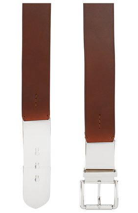 Женский кожаный ремень RALPH LAUREN коричневого цвета, арт. 408766887 | Фото 2