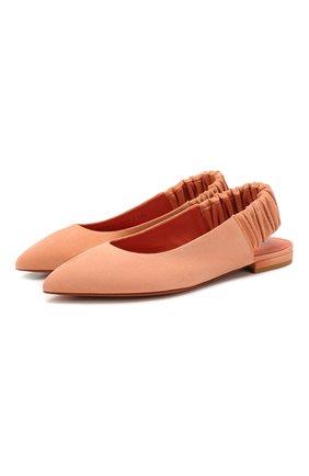 Женские замшевые балетки SANTONI светло-розового цвета, арт. WAWN58486HI2CMGDP36 | Фото 1