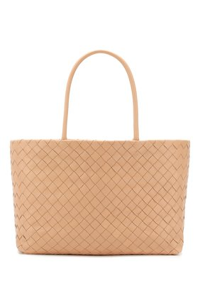 Женская сумка-тоут BOTTEGA VENETA светло-розового цвета, арт. 600504/VCPP1 | Фото 1