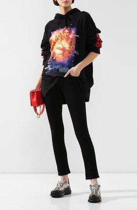 Женские комбинированные кроссовки arthur BURBERRY темно-серого цвета, арт. 8020671 | Фото 2