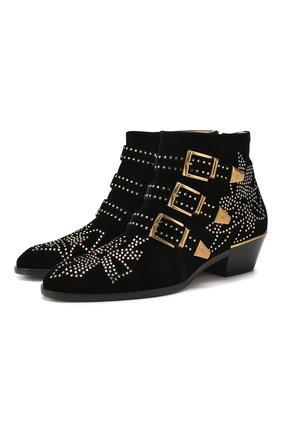 Женские текстильные ботинки susanna CHLOÉ черного цвета, арт. CHC20S134I3 | Фото 1