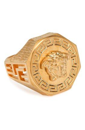 Мужское кольцо VERSACE золотого цвета, арт. DG54710/DMT1 | Фото 1
