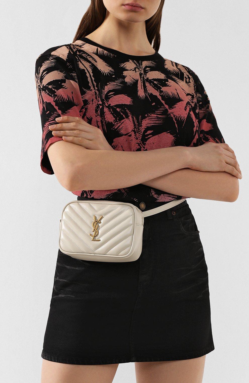 Женская поясная сумка lou SAINT LAURENT белого цвета, арт. 614031/DV707 | Фото 2