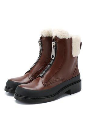 Женские кожаные ботинки roy CHLOÉ коричневого цвета, арт. CHC19W255H5 | Фото 1