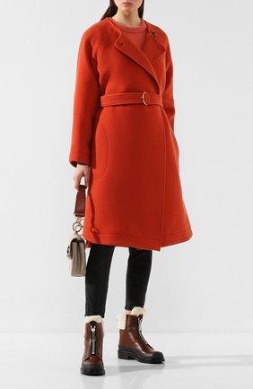 Женские кожаные ботинки roy CHLOÉ коричневого цвета, арт. CHC19W255H5 | Фото 2