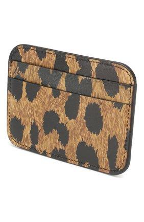 Женский кожаный футляр для кредитных карт cash BALENCIAGA леопардового цвета, арт. 593812/1BWC3 | Фото 2