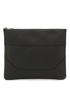 Мужская кожаный футляр для документов BALMAIN черного цвета, арт. TM1S093/LVCH | Фото 1