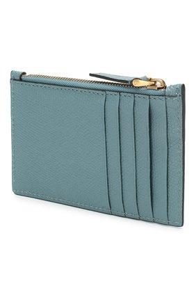 Женский кожаный футляр для кредитных карт valentino garavani VALENTINO бирюзового цвета, арт. TW2P0S76/GFP | Фото 2