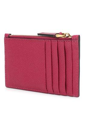 Женский кожаный футляр для кредитных карт valentino garavani VALENTINO фуксия цвета, арт. TW2P0S76/GFP | Фото 2