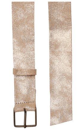 Женский кожаный ремень FORTE_FORTE бежевого цвета, арт. 7129 | Фото 2