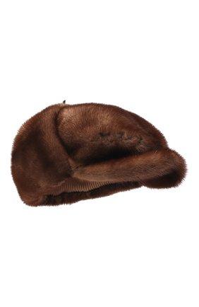 Мужская кепка из меха норки FURLAND коричневого цвета, арт. 0076802110089300000 | Фото 1