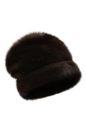 Женская шапка из меха норки KUSSENKOVV коричневого цвета, арт. 063500003679   Фото 1 (Материал: Натуральный мех; Статус проверки: Проверена категория)