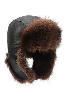 Мужская шапка-ушанка из меха фишера KUSSENKOVV черного цвета, арт. 338506949158 | Фото 1