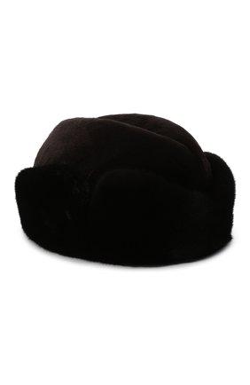 Мужская шапка из меха норки KUSSENKOVV темно-коричневого цвета, арт. 420210204136 | Фото 1