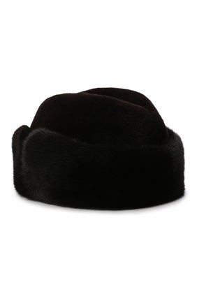 Мужская шапка из меха норки KUSSENKOVV темно-коричневого цвета, арт. 420210204136 | Фото 2