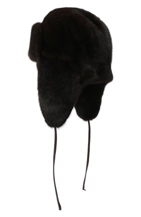 Мужская шапка-ушанка из меха норки KUSSENKOVV коричневого цвета, арт. 320200004241 | Фото 2
