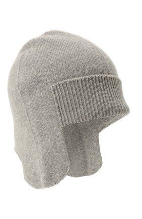 Женская кашемировая шапка-ушанка denmark CANOE серого цвета, арт. 4916470 | Фото 1