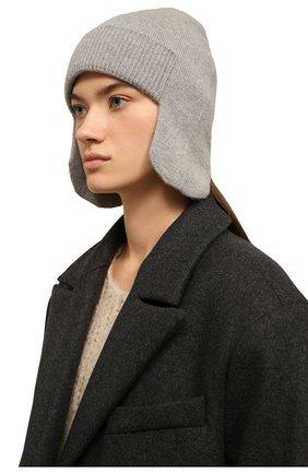 Женская кашемировая шапка-ушанка denmark CANOE серого цвета, арт. 4916470 | Фото 2