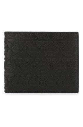 Мужской кожаное портмоне SALVATORE FERRAGAMO черного цвета, арт. Z-0725077 | Фото 1