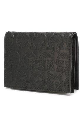 Мужской кожаный футляр для кредитных карт SALVATORE FERRAGAMO черного цвета, арт. Z-0725086 | Фото 2