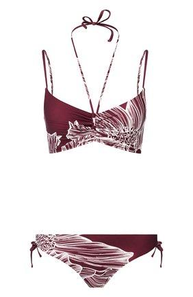 Женский раздельный купальник GOTTEX бордового цвета, арт. 20LY908   Фото 1