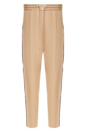 Мужской хлопковые брюки MONCLER бежевого цвета, арт. F1-091-2A703-00-54AGL   Фото 1