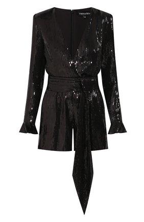 Женский комбинезон с пайетками RETROFÊTE черного цвета, арт. HL20-2513   Фото 1