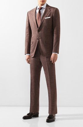 Мужской костюм из смеси кашемира и шелка KITON коричневого цвета, арт. UA81K06S20   Фото 1