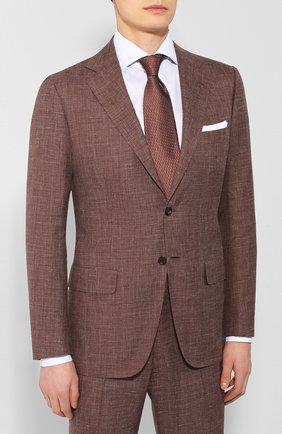 Мужской костюм из смеси кашемира и шелка KITON коричневого цвета, арт. UA81K06S20   Фото 2