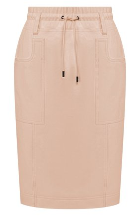 Женская кожаная юбка TOM FORD светло-розового цвета, арт. GCL791-LEX228 | Фото 1