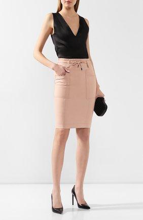 Женская кожаная юбка TOM FORD светло-розового цвета, арт. GCL791-LEX228 | Фото 2
