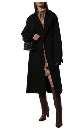 Женское хлопковое платье BURBERRY бежевого цвета, арт. 8024585 | Фото 2