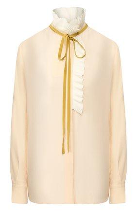 Женская шелковая блузка CHLOÉ розового цвета, арт. CHC20SHT29004 | Фото 1