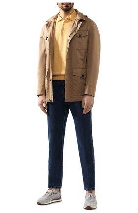 Мужское поло из смеси льна и хлопка FIORONI желтого цвета, арт. MK20701C1 | Фото 2