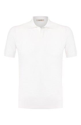 Мужское хлопковое поло FIORONI белого цвета, арт. MK20263C1 | Фото 1