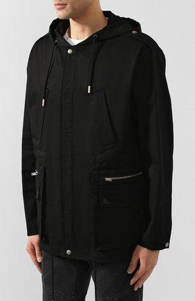 Мужская хлопковая куртка SAINT LAURENT черного цвета, арт. 605940/Y253Q | Фото 3