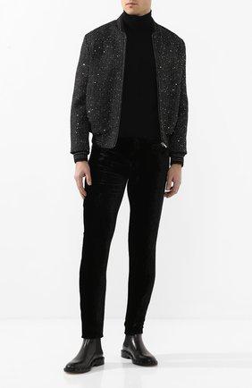 Мужские джинсы SAINT LAURENT черного цвета, арт. 601478/Y568X | Фото 2