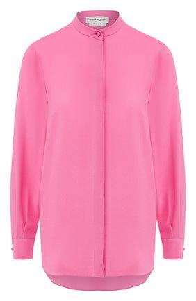Женская шелковая рубашка ALEXANDER MCQUEEN розового цвета, арт. 610772/QBAAF | Фото 1